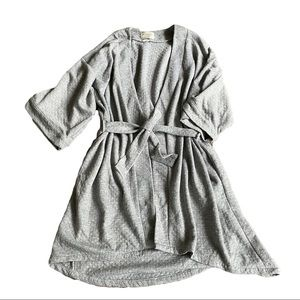 Anthropologie grey quilted robe, L